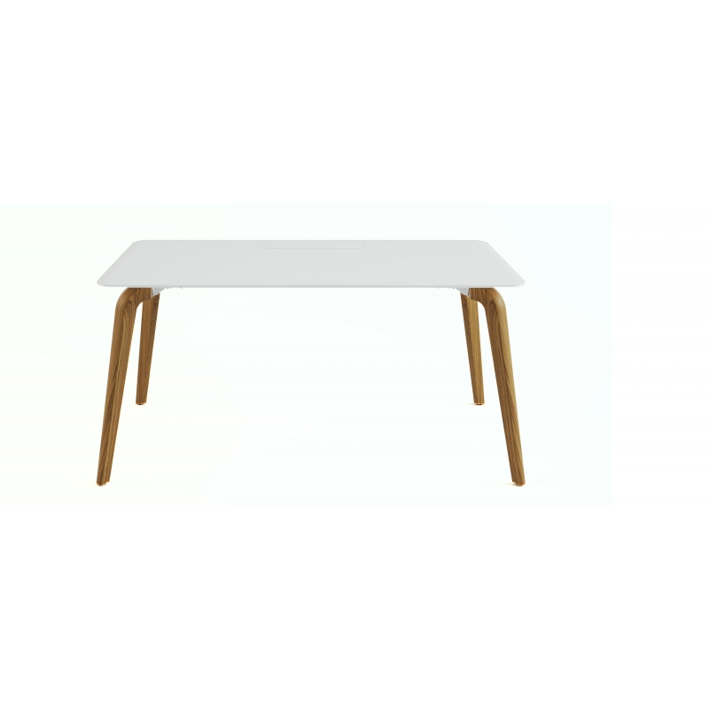 Bureau simple woodleg blanc en 160x80 be my desk for Bureau simple blanc