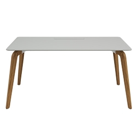 Bureau simple Woodleg gris 160x80