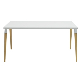 Bureau simple Good Wood blanc en 160x80