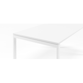 Bureau simple Slim blanc en 120x80