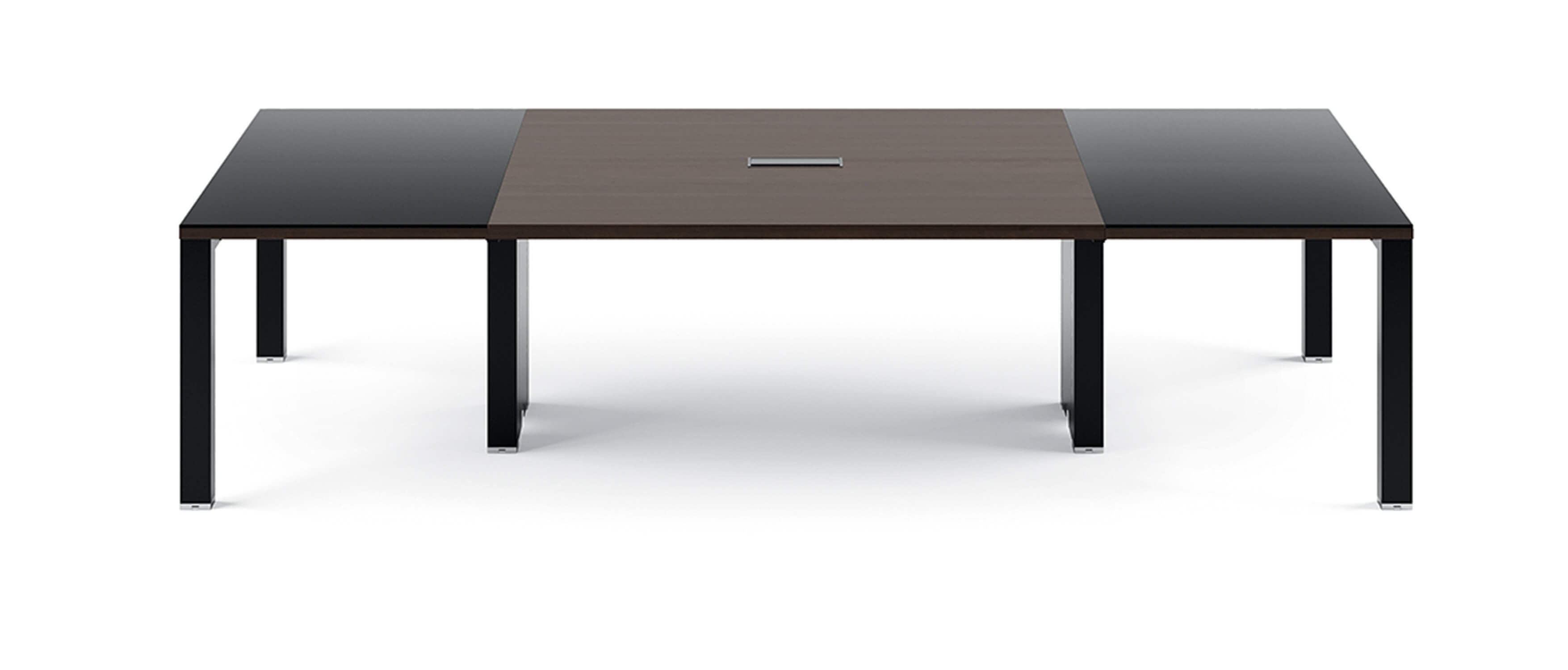 asset 4x table de r union avec extension en verre de frezza. Black Bedroom Furniture Sets. Home Design Ideas