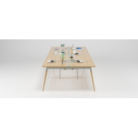 Bureau Good Wood 6 personnes blanc en 360x160 avec top access